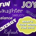Word Up – What's Your Word For 2016?